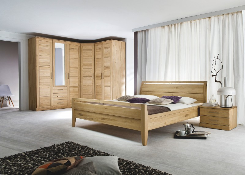schlafzimmer m bel in holzfarben m belhaus balzer. Black Bedroom Furniture Sets. Home Design Ideas